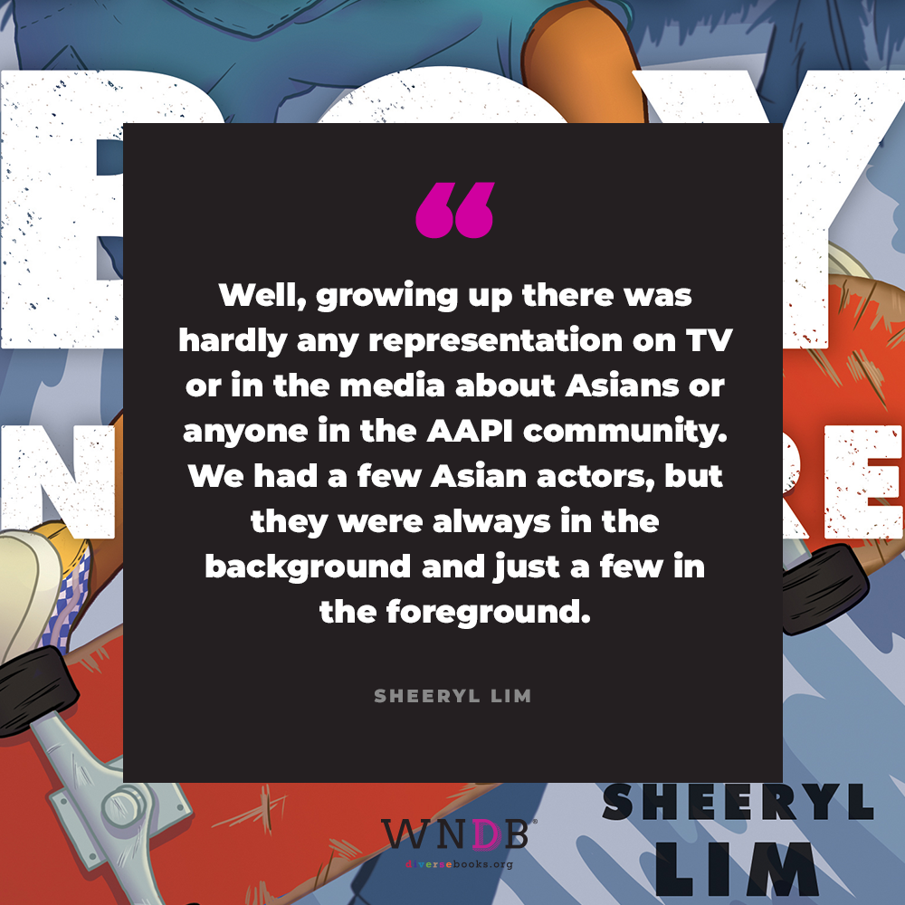Well, growing up there was hardly any representation on TV or in the media about Asians or anyone in the AAPI community. We had a few Asian actors, but they were always in the background and just a few in the foreground.