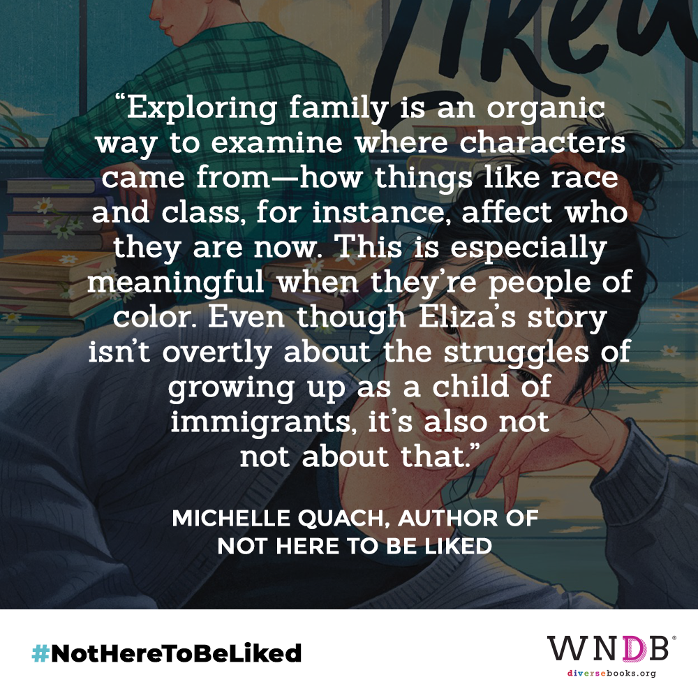 exploring family is an organic way to examine where characters came from—how things like race and class, for instance, affect who they are now. This is especially meaningful when they're people of color. Even though Eliza's story isn't overtly about the struggles of growing up as a child of immigrants, it's also not not about that.