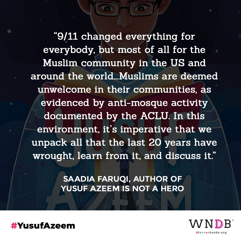 """""""9/11 changed everything for              everybody, but most of all for the Muslim community in the US and around the world...Muslims are deemed unwelcome in their communities, as       evidenced by anti-mosque activity        documented by the ACLU. In this              environment, it's imperative that we unpack all that the last 20 years have wrought, learn from it, and discuss it."""""""