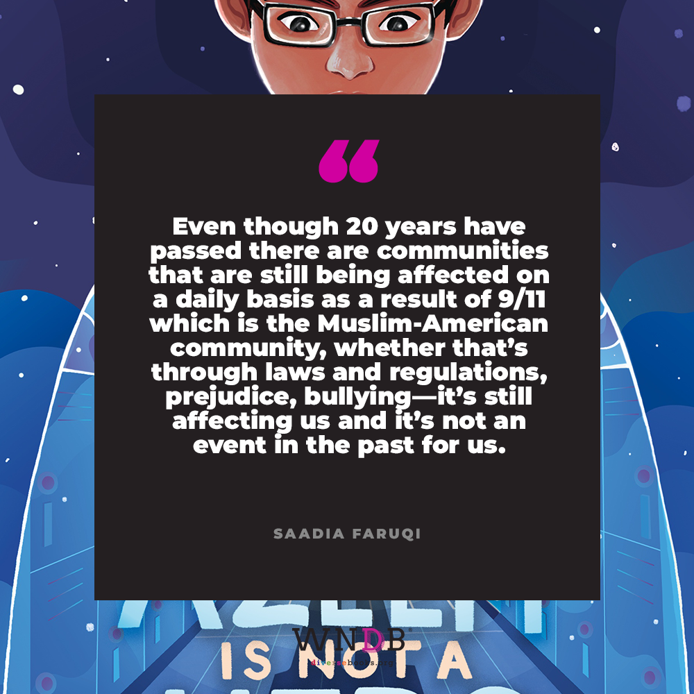 even though 20 years have passed there are communities that are still being affected on a daily basis as a result of 9/11 which is the Muslim-American community, whether that's through laws and regulations, prejudice, bullying—it's still affecting us and it's not an event in the past for us.